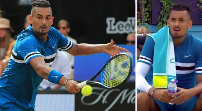 """Sốc trước Wimbledon: Làm chuyện """"bậy bạ"""" với chai nước, Kyrgios bị phạt nặng - 1"""