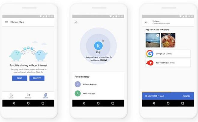Google tăng tốc độ chia sẻ dữ liệu nhanh gấp 4 lần trong Files Go - 1