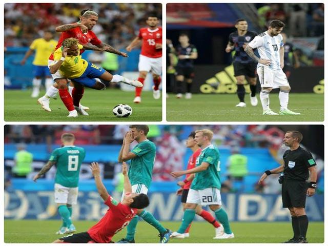 """Video 5 cơn đại địa chấn World Cup: Neymar, Messi """"chết hụt"""", Đức khóc hận"""