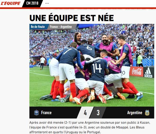 Pháp hạ Argentina: Báo chí gọi là đội quân siêu hạng, ví Mbappe với Rô béo - 1