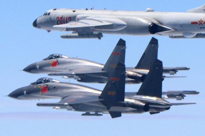 """Thông điệp """"lạnh"""" của TQ khi đưa chiến đấu cơ vượt ranh giới ở eo biển Đài Loan - 1"""
