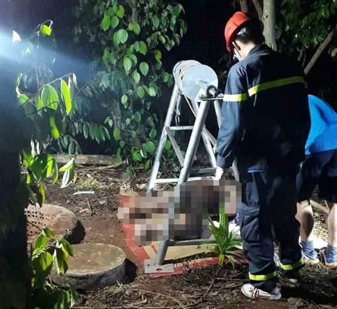 Tá hỏa phát hiện thi thể người đàn ông dưới giếng - 1