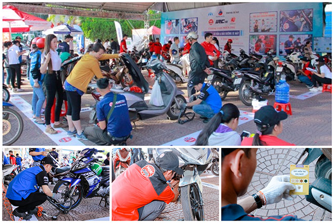 Hơn 5000 người tham dự, 700 chiếc xe máy được chăm sóc miễn phí tại Tp. Buôn Mê Thuột - 1