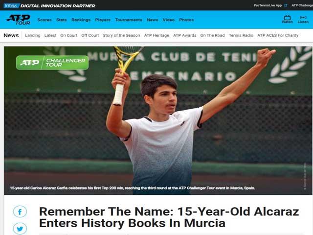 """Truyền nhân Nadal: """"Ngựa ô"""" 15 tuổi tài năng thiên bẩm, số 1 tương lai"""