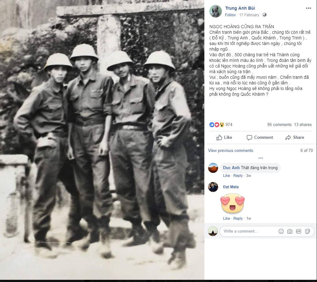 """Lương Bổng bất ngờ chia sẻ hình ảnh trong quân ngũ của """"Ngọc Hoàng"""" Quốc Khánh - 1"""