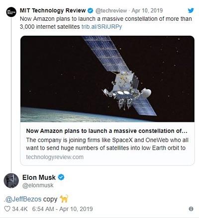 """Ông chủ Tesla """"đá đểu"""" CEO Amazon là """"kẻ cóp nhặt"""" - 2"""