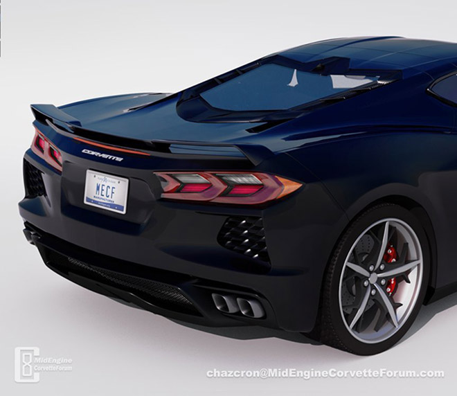 The Chevrolet 2020 C8 Corvette will have unique tail lights like demon eyes - 1