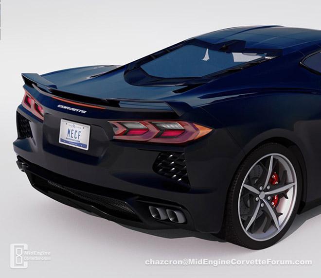 Chevrolet 2020 C8 Corvette Sẽ Co đen Hậu độc đao Như Mắt Quỷ