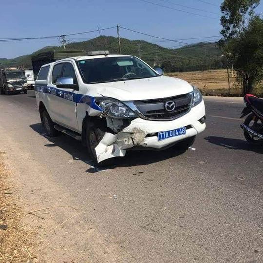 Xe CSGT Bình Định gây tai nạn chết người khi đi tuần tra - 1