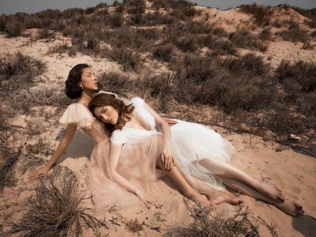 Kỳ Duyên ăn vận lộng lẫy, quấn quít bên Minh Triệu giữa sa mạc
