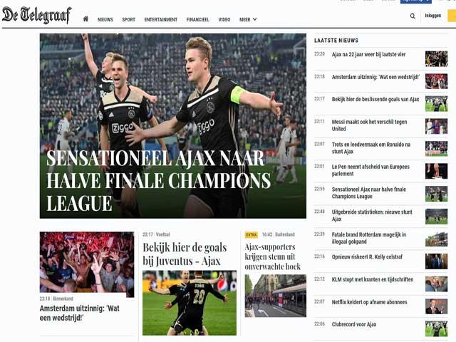 Juventus bị loại sốc Cúp C1: Báo chí choáng ngợp vì Ajax, tiếc nuối Ronaldo