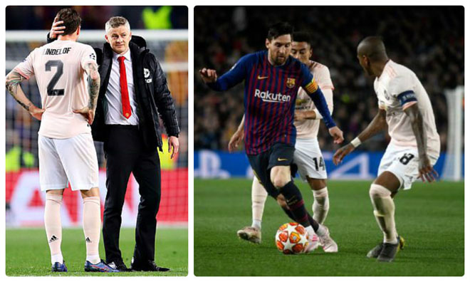MU vỡ mộng cúp C1: Solskjaer nể phục Messi, tự nhận dưới tầm Barcelona - 1