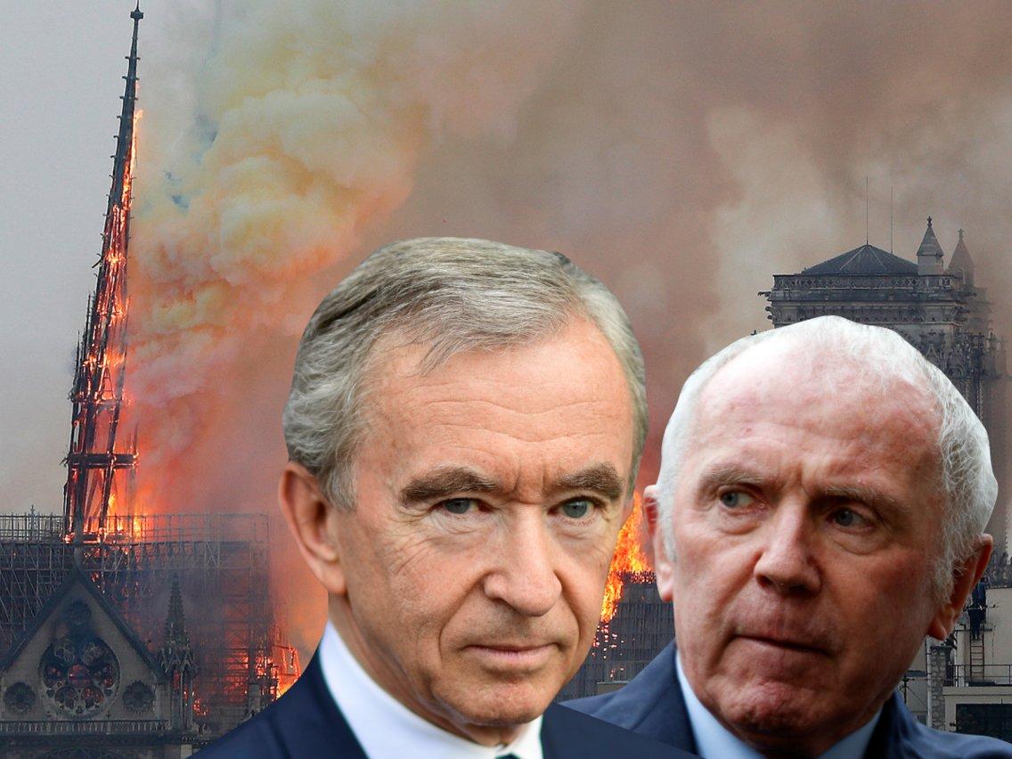 """Cuộc chiến """"ngầm"""" giữa 2 siêu tỷ phú Pháp quyên góp 340 triệu USD cho Nhà thờ Đức Bà - 1"""