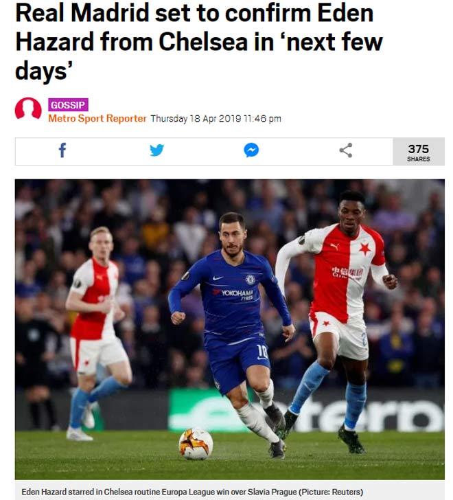 """Rung chuyển """"bom tấn"""": Real mua xong Hazard 100 triệu euro tuần này - 1"""