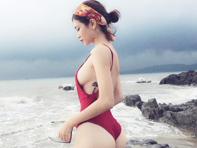 Kiều nữ Việt táo bạo xăm hình kín đáo tại vị trí vòng 1, vòng 3