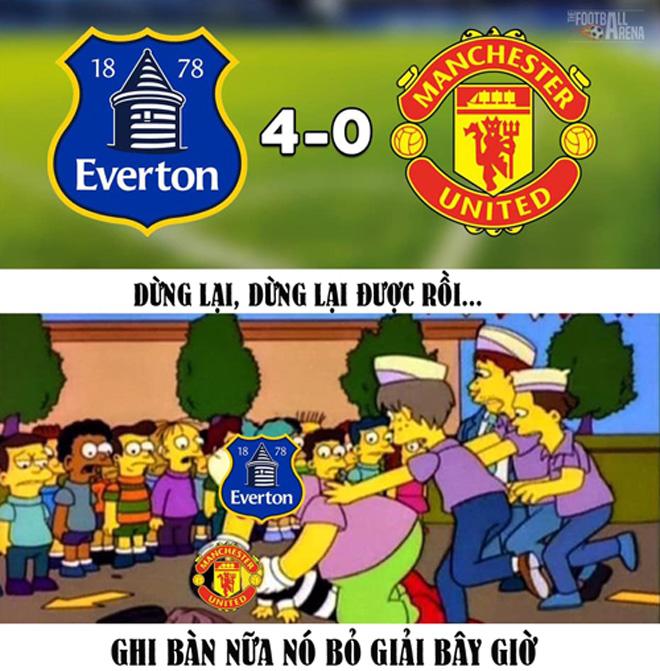 Thua tan nát trước Everton, MU đang xa dần top 4 - 1