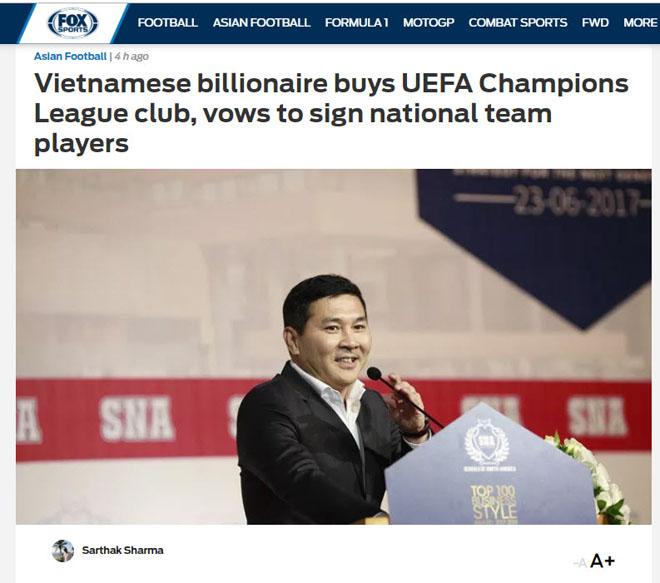 Tỷ phú Việt mua CLB dự cúp C1: Báo châu Á mơ Công Phượng đấu Ronaldo, Messi - 1