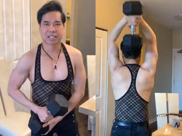 U50 Ngọc Sơn khoe cơ bắp chắc nịch, hé lộ quà 'khủng' nặng 30kg được fan tặng - 1