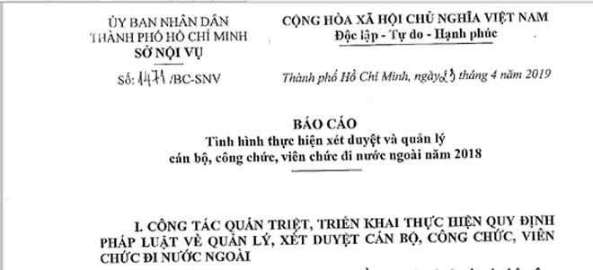 Một cán bộ Tổng Công ty Nông nghiệp Sài Gòn đi nước ngoài 11 lần trong năm - 1