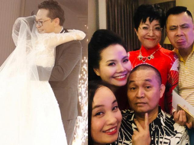 """Sao miền Bắc """"đổ bộ"""" tới dự đám cưới lần 3 của NSND Trung Hiếu và vợ trẻ kém 19 tuổi"""