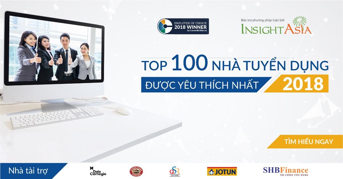 Công bố danh sách 100 Nhà tuyển dụng được yêu thích nhất năm 2018 - 1