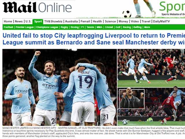 MU thảm bại derby: Báo Anh chê quá yếu, chờ Man City nâng cúp Ngoại hạng Anh