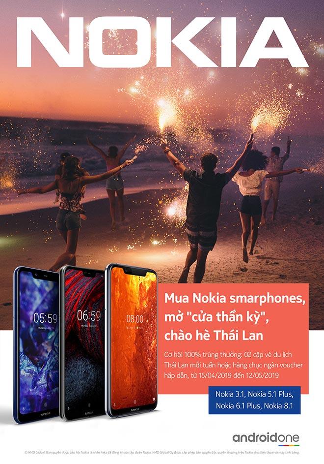 """Cơ hội sở hữu ngay tấm vé mở """"cửa thần kỳ"""", một bước đến Thái Lan miễn phí cùng Nokia - 1"""