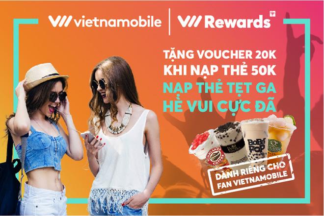 """Nạp thẻ Vietnamobile một lần, vừa nhận """"nóng"""" voucher, vừa chờ quà """"nguội"""" - 1"""