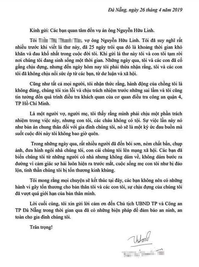 Vợ ông Nguyễn Hữu Linh rút đơn tố cáo gửi công an - 1