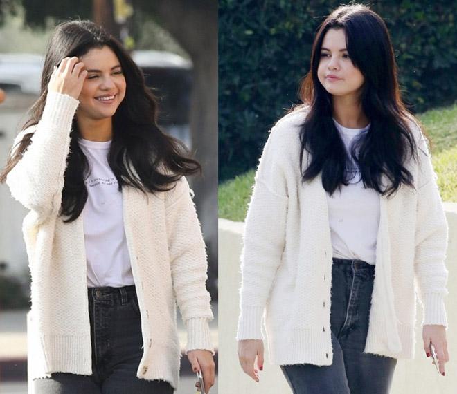 5 nữ thần mặt mộc: Selena Gomez đẹp bất chấp dù lên cân, thất tình - 1