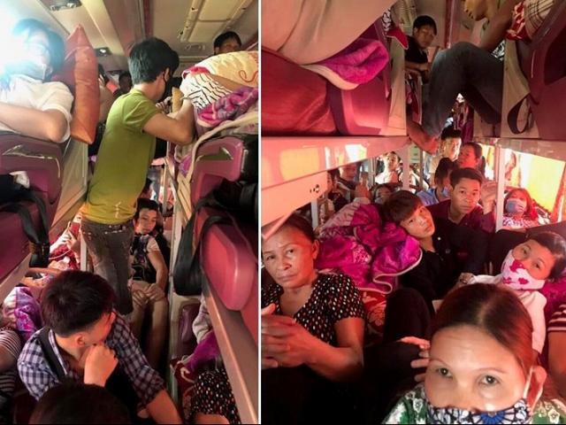 Bị nhồi nhét không thở nổi, hành khách dồn dập nhắn tin CSGT