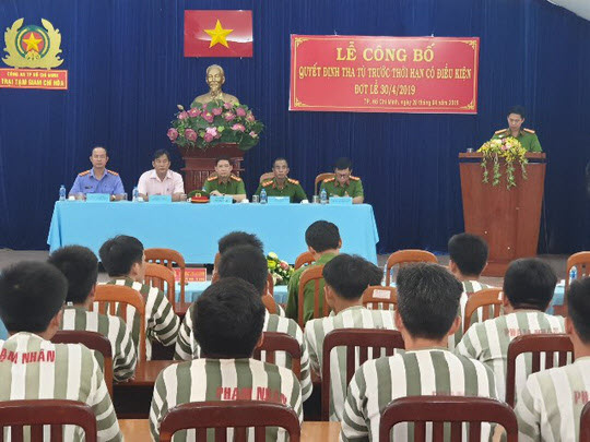 90 prisoners in Ho Chi Minh City were sentenced to prison for resting 30-4 - 1