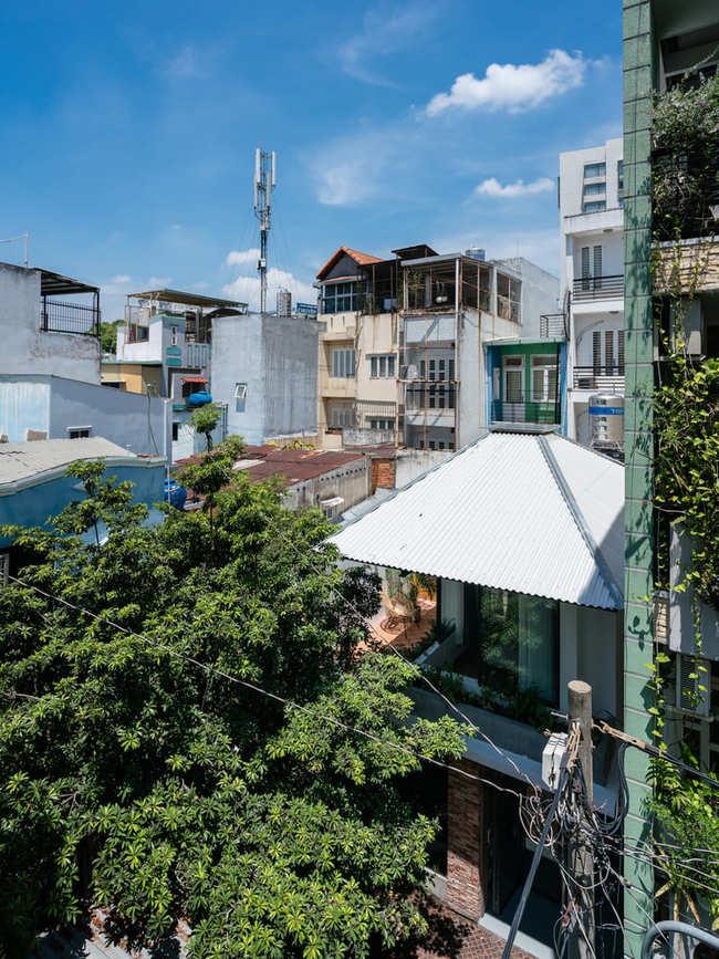 Nhà nằm ở một góc khuấttrongcon hẻm nhỏ tại TP HCM.