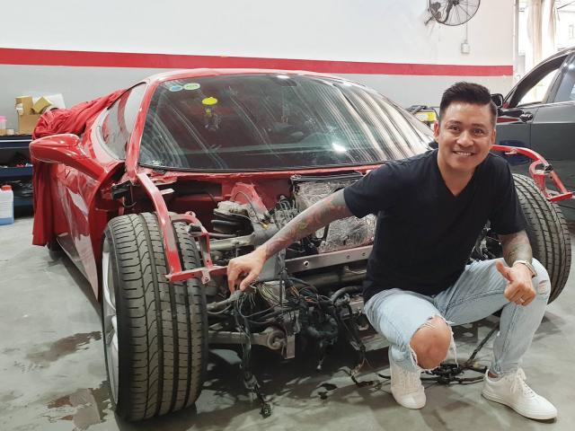 Siêu xe 16 tỷ của Tuấn Hưng sau tai nạn nát đầu trên cao tốc hiện ra sao?
