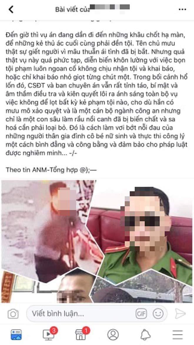 Công an Điện Biên lên tiếng về tin đồn bắt thêm nghi phạm vụ nữ sinh giao gà bị giết - 1