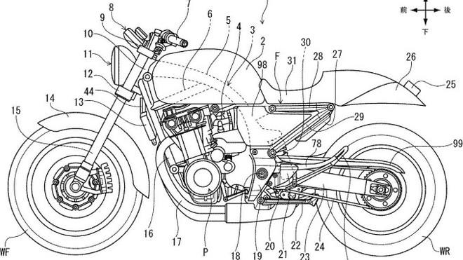 Lộ hình ảnh bằng sáng chế mẫu xe cafe racer mới của Honda - 1