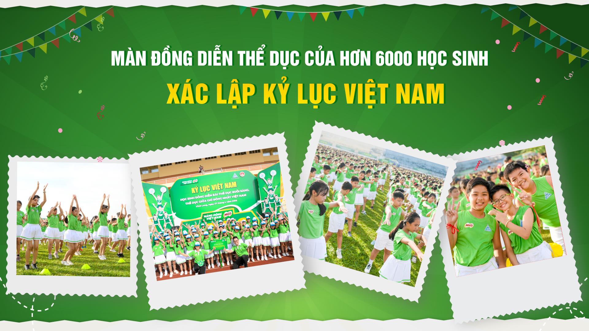 Màn đồng diễn thể dục của hơn 6000 học sinh xác lập kỷ lục Việt Nam - 1