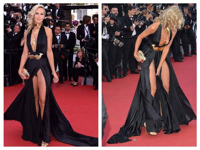 Lady Victoria Hervey tại Cannes2015 lộ nội y một cách thô thiển.