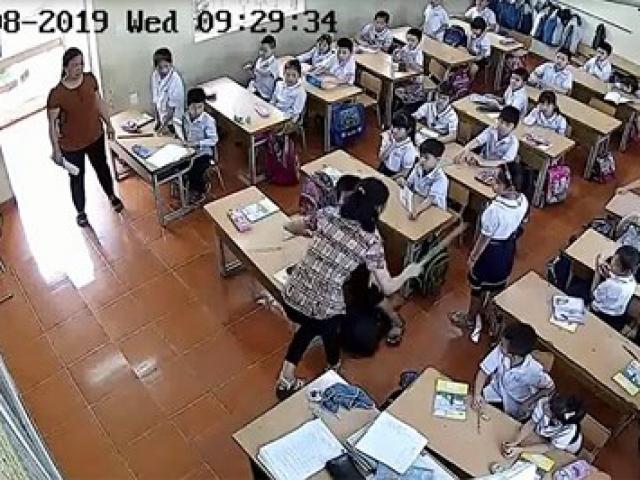Xuất hiện clip cô giáo ở Hải Phòng đánh học sinh lớp 2 tới tấp