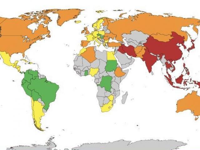 """Bản đồ kích thước """"cậu nhỏ"""" của quý ông trên toàn thế giới, Việt Nam lọt top"""