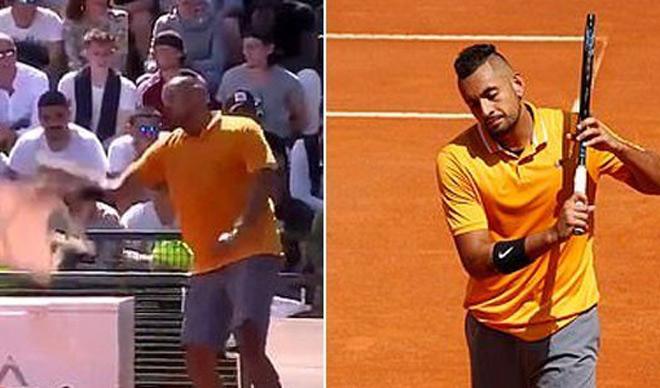 """""""Gã điên"""" Kyrgios phá nát Rome Masters: """"Chửi"""" cả Nadal - Djokovic - 1"""