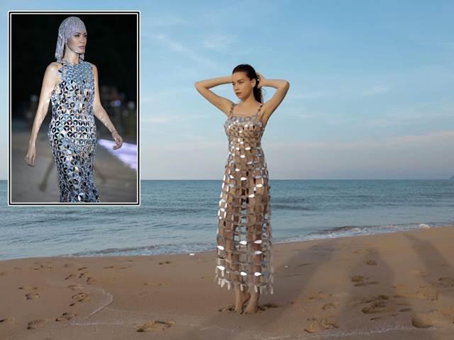 """NTK bức xúc vì váy kim loại xuyên thấu của Hồ Ngọc Hà bị """"nhái"""""""