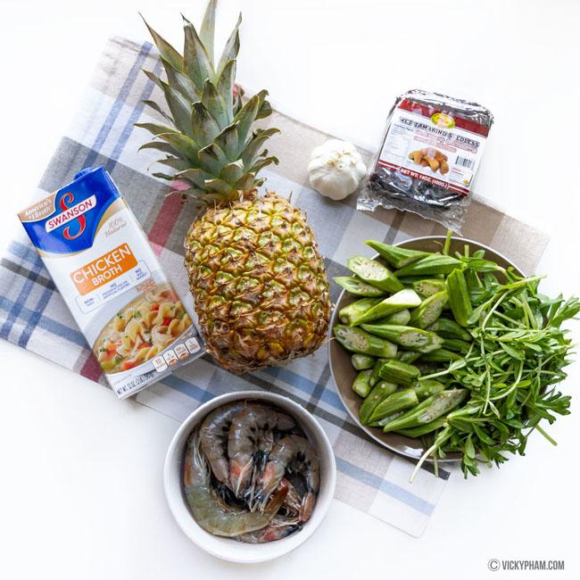 Giải nhiệt ngày nắng với canh chua tôm nấu dứa thanh mát - 1