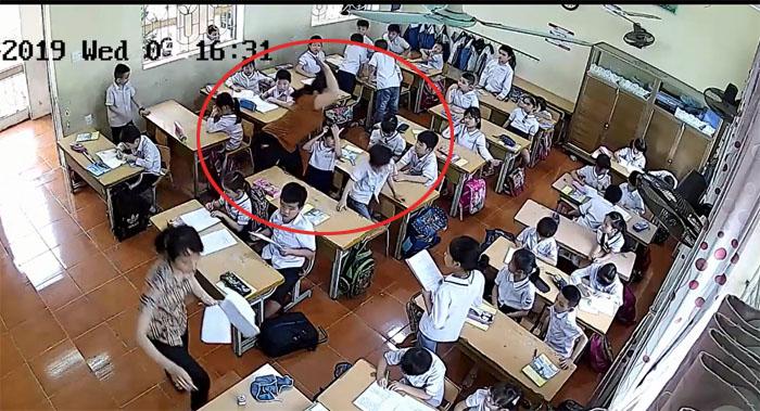 Giáo viên chủ nhiệm cùng đánh học sinh tới tấp có bị xử lý? - 1