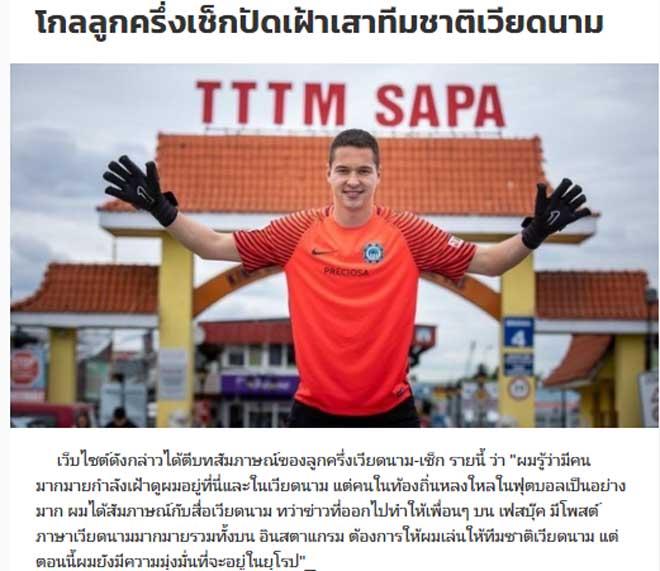 """Báo Thái Lan """"soi"""" ĐT Việt Nam ở King's Cup: Xôn xao với sao Việt kiều - 1"""