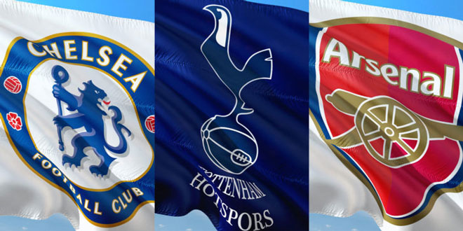 Image result for chelsea tottenham arsenal