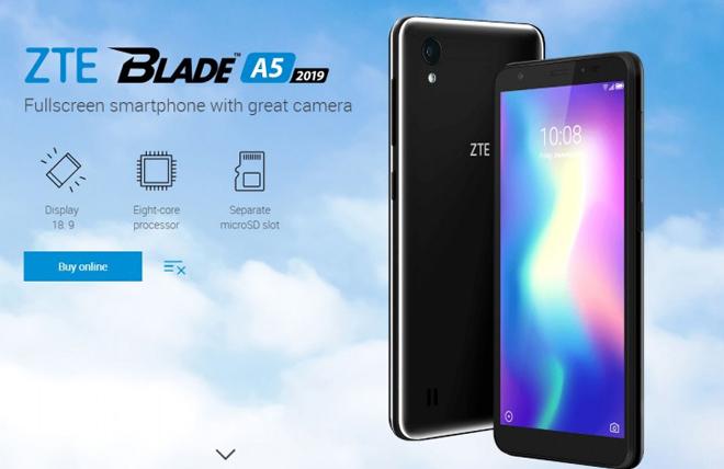 """""""Trình làng"""" ZTE Blade A5 2019 giá cực rẻ - 1"""