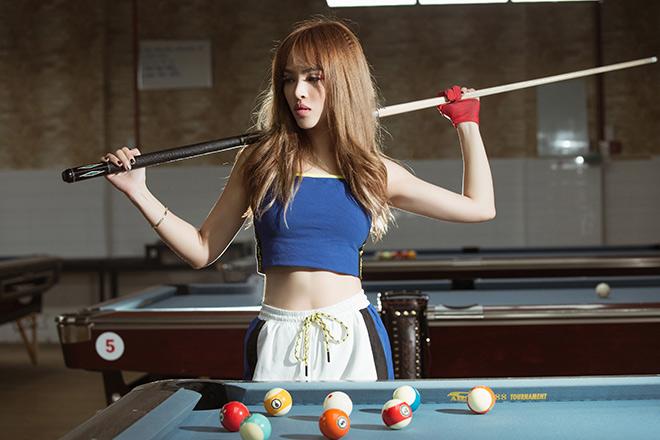 Hot girl ca sỹ  Chung Thương mê bi-a, mong ước làm cơ thủ - 1