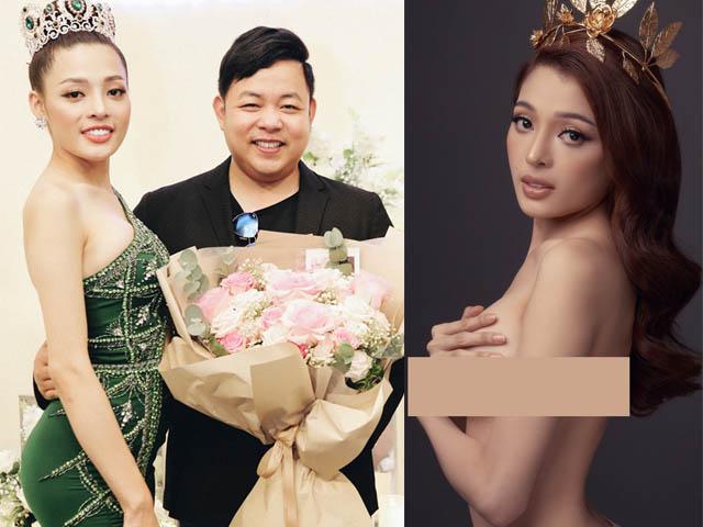 Quang Lê thân thiết bên hoa hậu 20 tuổi lộ ảnh nude khi vừa đăng quang