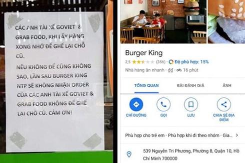 """Cửa hàng Burger King bị """"dìm sao"""" hội đồng vì kỳ thị tài xế Grab, Go Viet - 1"""